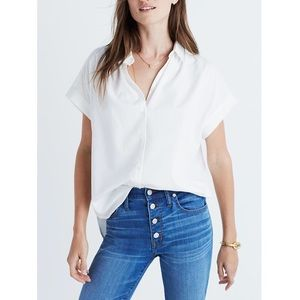 Madewell Central Shirt Cotton Up Pure White